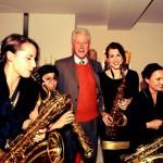 Famdüsax mit Bill Clinton 2013
